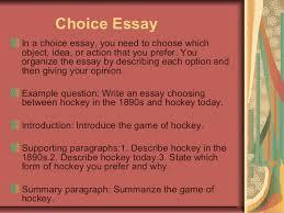essay writing 8 choice essay