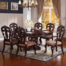 deryn park cherry round oval pedestal dining room 5pc set