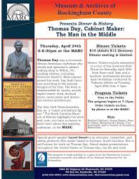 Cabinet Makers Durham Nc Another Great Dinner History Program This Month Thomas Day
