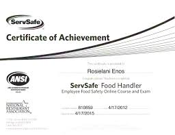 ca food handlers card