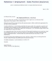 Example Of Reference Letters For Employment Recommendation Letter