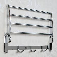 Fold Up Shelf Folding Towel Rack Bathroom