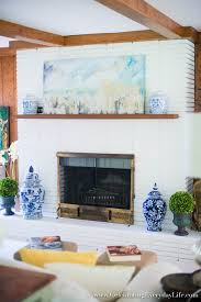 painting a fireplace whiteHow to Paint A Brick Fireplace  Celebrating everyday life with