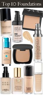 10under10 top 10 makeup foundations