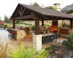 outdoor kitchen designs with pizza oven backyard