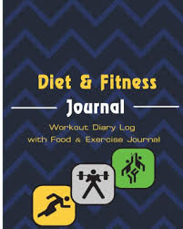 Diet Workout Journal Diet Fitness Journal Workout Diary Log With Food Exercise Journal Gym Workout Fitness Workout Log 8x10 Inch