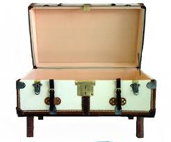 Black Steamer Trunk Coffee Table Trunk Style Coffee Table White Color Circular Coffee Table