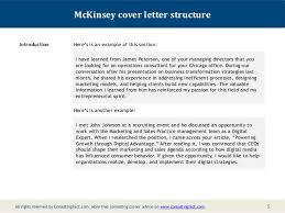 McKinsey Cover Letter Sample Extraordinary Management Consulting Cover Letter
