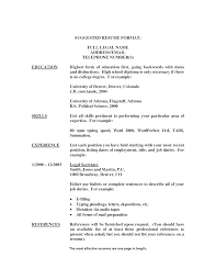 Some Resume No College Degree A Good Resume Example
