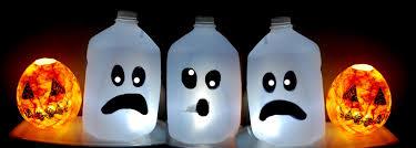 Milk Bottle Decorating Ideas KIDS HALLOWEEN CRAFT CUTE Ghost Milk Jug Easy Halloween 35