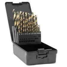 WEN Fully Ground <b>Black Gold</b> HSS Jobber Drill Bit <b>Set</b> with Carrying ...