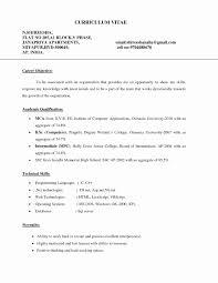 Fresher Teacher Resume Format Pdf Lovely Resume Career Objective