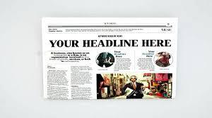 Spoof Newspaper Template Free Spoof Newspaper Template Free For Resume Word Headlines Headline