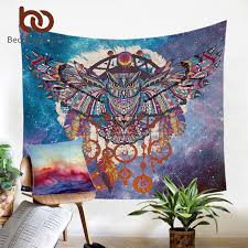 Dream Catcher Carpet Mesmerizing BeddingOutlet Owl Dream Catcher With Feathers Tapestry Bohemia Wall