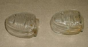 2 vintage clear glass bird cage feeder seed or water cup marked usa ribbed