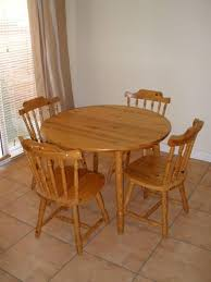 5pc dinette kitchen dining set table with 4 wood seat view larger