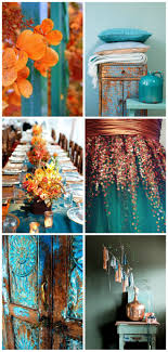 copper and teal tangerine/teal color idea
