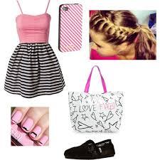 cute pink black white summer dress