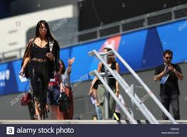Pilar Rubio Fernandez, wife of Real Madrid player Sergio Ramos and Spanish  TV presenter arrives at