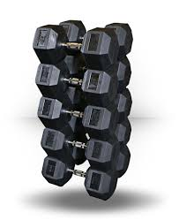 Rubber Coated Hex Dumbbell Set With Rack Extraordinary BodySolid Rubber Coated Hex Dumbbell Sets 32 To 32 Lb Set