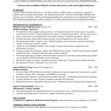 Resume Example For Medical Assistant Examples Of Resumes