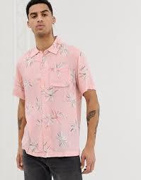 Розовая <b>рубашка</b> из вискозы с принтом paradise <b>Bellfield</b> ...