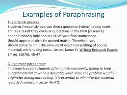 apa citing paraphrasing and quoting presentation 6