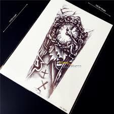 5776 руб 1 шт 3d старые часы для боди арта рукав переводная поддельная татуировка