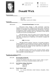 American Resume Format For Freshers Best Sample English Cv Samples
