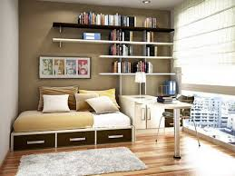 Small Bedroom Couch Modish Floating Bookshelves Over Sleeper Couch Storage And