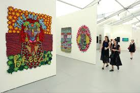 felt collages by jody paulsen of south africa presented smac gallery at unled art fair during