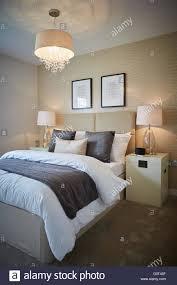 Show Home Bedroom Show Home Interior Main Bedroom Adult Cream Magnolia Print Stock