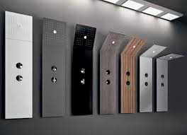 Modern and Minimalist Shower with Folding Head Pile Shower Column