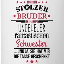 Amazonde Spreadshirt Stolzer Bruder Fantastische Schwester Spruch