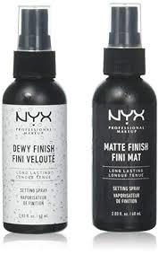 2 nyx makeup setting spray mss 01 02 matte dewy finish