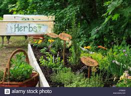 herb garden with signs new hshire