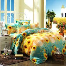 sunflower bedding set free sunflower pattern reactive printing flannel bedding king size of duvet sunflower