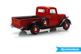 1937 Ford Pickup Truck Red 1:24 scale American Classic die-cast ...