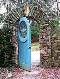 recycled old doors secret garden door in virginia