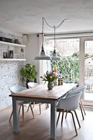 dining room lighting design. Industrial Decor Is One Of Our Favorite Interior Design Styles, And This Dining Room Explains Exactly Why! These Two White Pendant Lamps Are Lighting