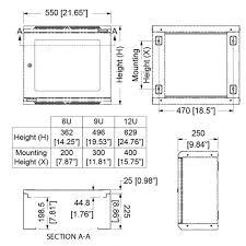 wall mount rack enclosure 6u 250mm 9 84
