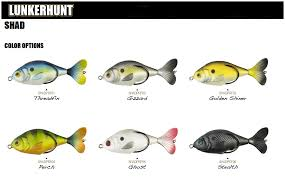 Lunkerhunt Prop Shad 2018 Color Chart Fishing Lure Color