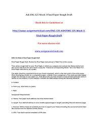 Draft Paper Online Eng 125 Week 3 Final Paper Rough Draft By Naresh Pdf Archive