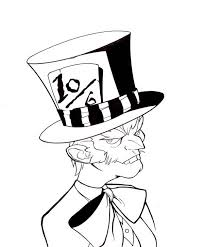 Small Picture Mad Hatter with Bow Tie Coloring Page Color Luna