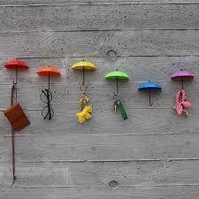 3pcs diy home decor decoration umbrella wall hook for children kids rooms sungl bag organizer holder