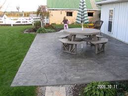 stamped concrete patio by swiss village
