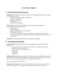 Business Case Analysis Business Case Study Template Cortezcoloradonet 2