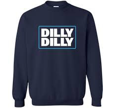 Bud Light Hooded Sweatshirt Bud Light Official Dilly Dilly Printed Crewneck Pullover