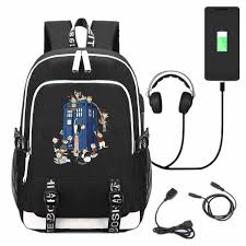 Новый USB рюкзак TV <b>Doctor Who</b>, <b>школьный рюкзак</b>, черный ...