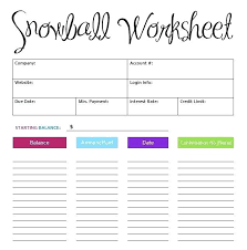 Keep Track Of Your Payoff Progress With A Debt Snowball Worksheet